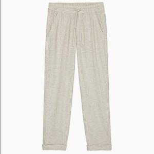Calvin Klein Linen Cotton Pants Size M Off White